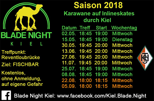 Blade Night Kiel 2018 - Alle Termine