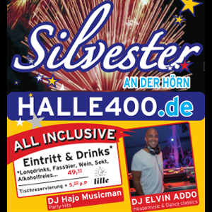 Party: Halle 400 | Silvesterparty in der Halle400
